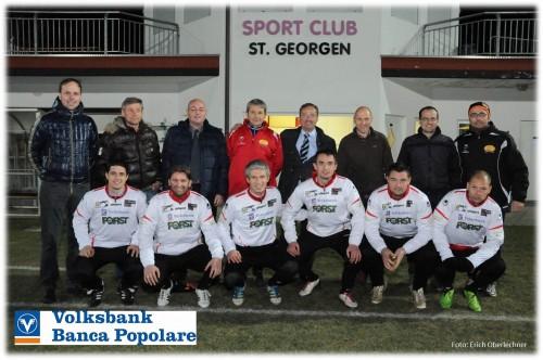 Jergina Fußballer mit Volksbank